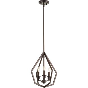 Coleman 3-Light Lantern Pendant by Wrought Studio