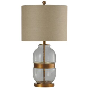Villita Metal and Glass Base Transitional 29 Table Lamp
