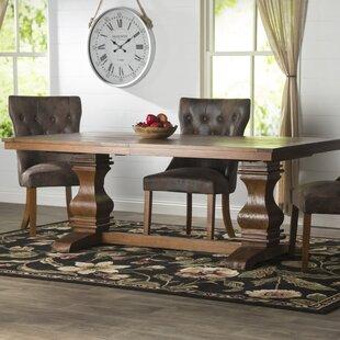 Lark Manor Parfondeval Extendable Wood Di..