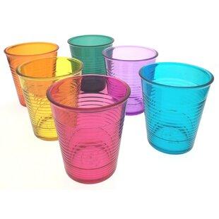 Jump 6 Piece 350ml Plastic Drinking Glass Set By Tick