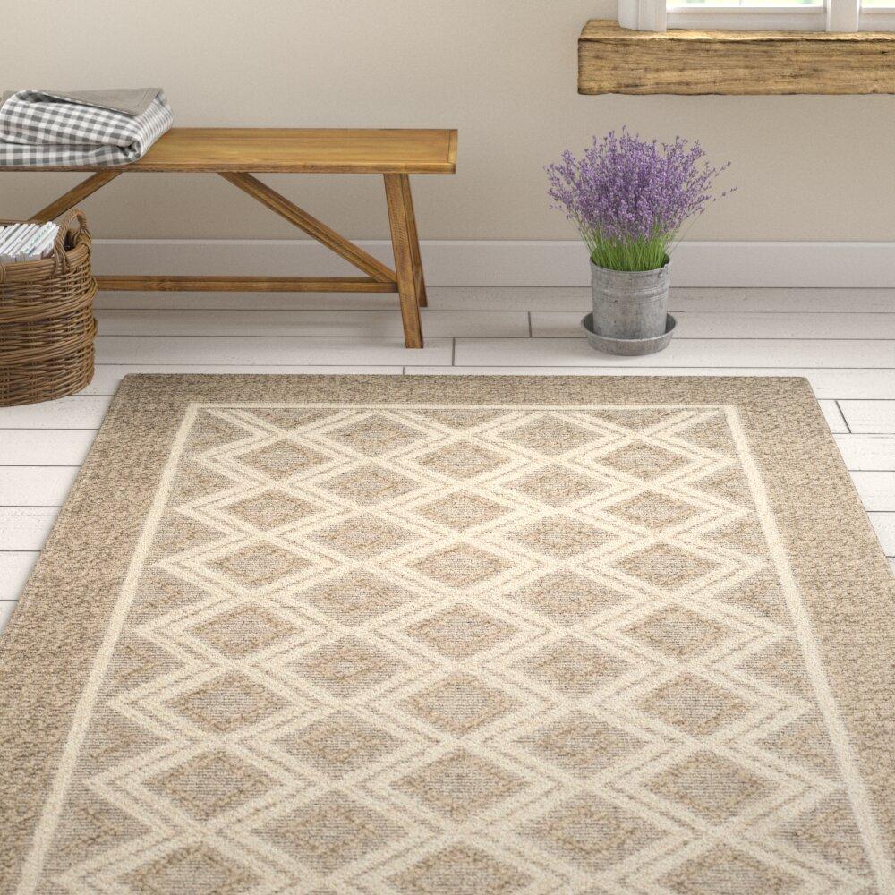 Gracie Oaks Xamiera Hand Tufted Wool Cotton Beige Area Rug Reviews Wayfair