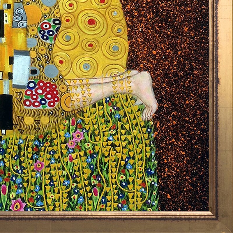 Tori Home Klimt The Kiss, Full View by Gustav Klimt Framed Painting ...