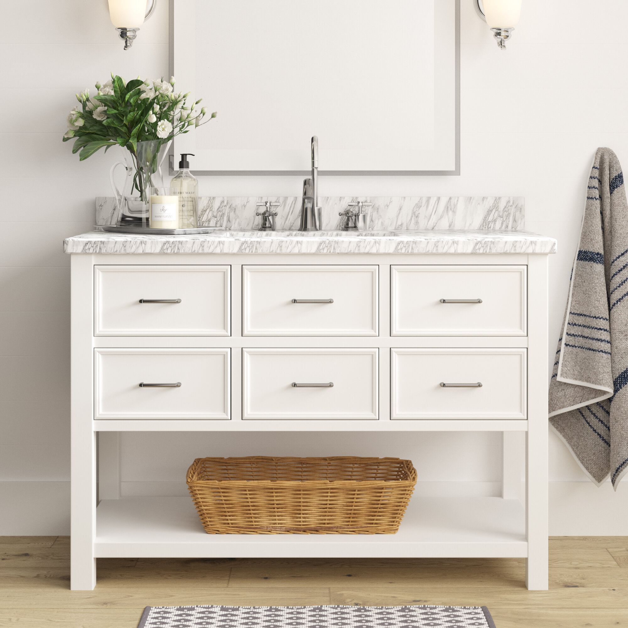 Caran 48 Single Bathroom Vanity Set Reviews Joss Main