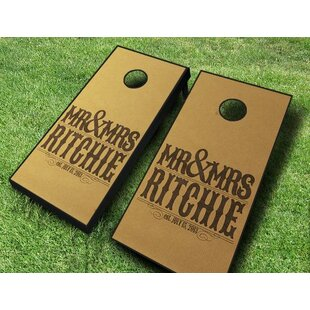 AJJ Cornhole Wedding Mr. and Mrs. Cornhole Set
