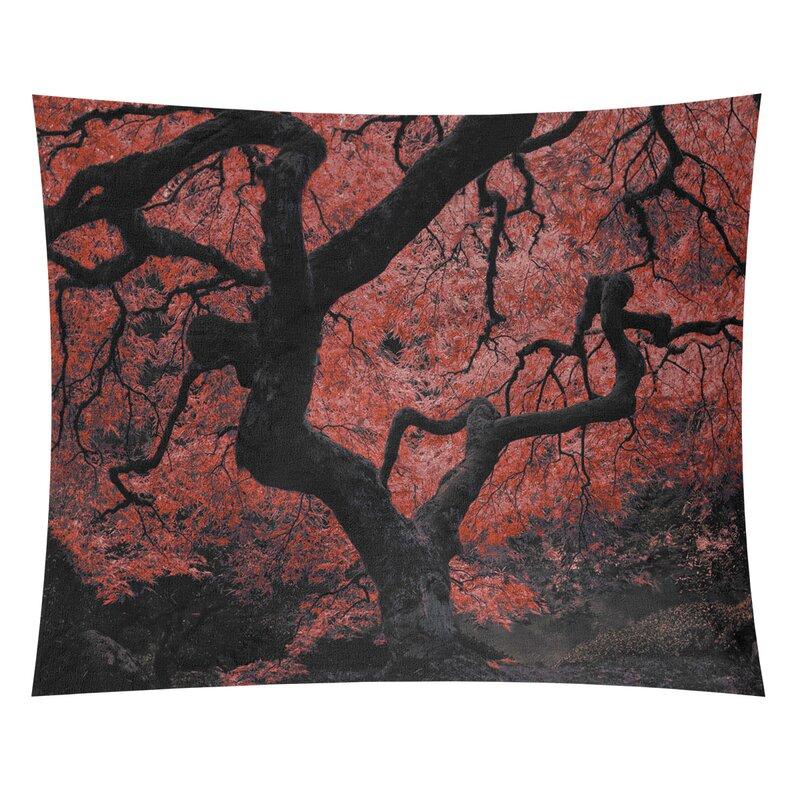 World Menagerie Bourbeau Japanese Maple Tree Tapestry Wayfair