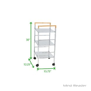 c9026861a959 3 Tier Mobile Metal Top Kitchen Cart by Mind Reader