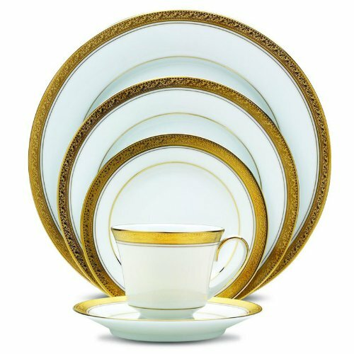 Crestwood Gold 20 Piece Dinnerware Set Service for 4  sc 1 st  Wayfair & Noritake Crestwood Gold 20 Piece Dinnerware Set Service for 4 | Wayfair