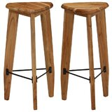 Tieton Solid Wood Bar Stool (Set of 2) by Union Rustic