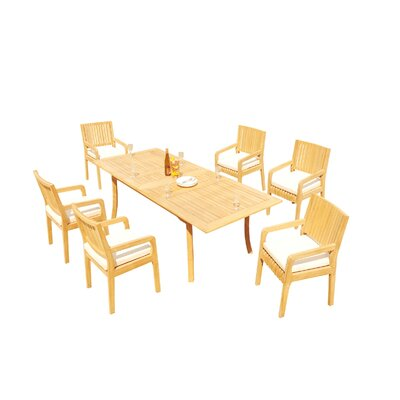 Mastin 7 Piece Teak Dining Set by Rosecliff Heights Great price