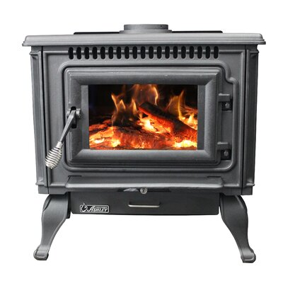 Direct Vent Wood Burning Stove Ashley Hearth Finish: Gloss Black