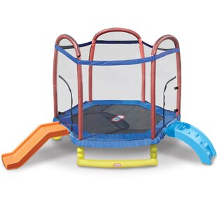 Little Tikes 7' Climb 'n Slide Trampoline with Safety Enclosure