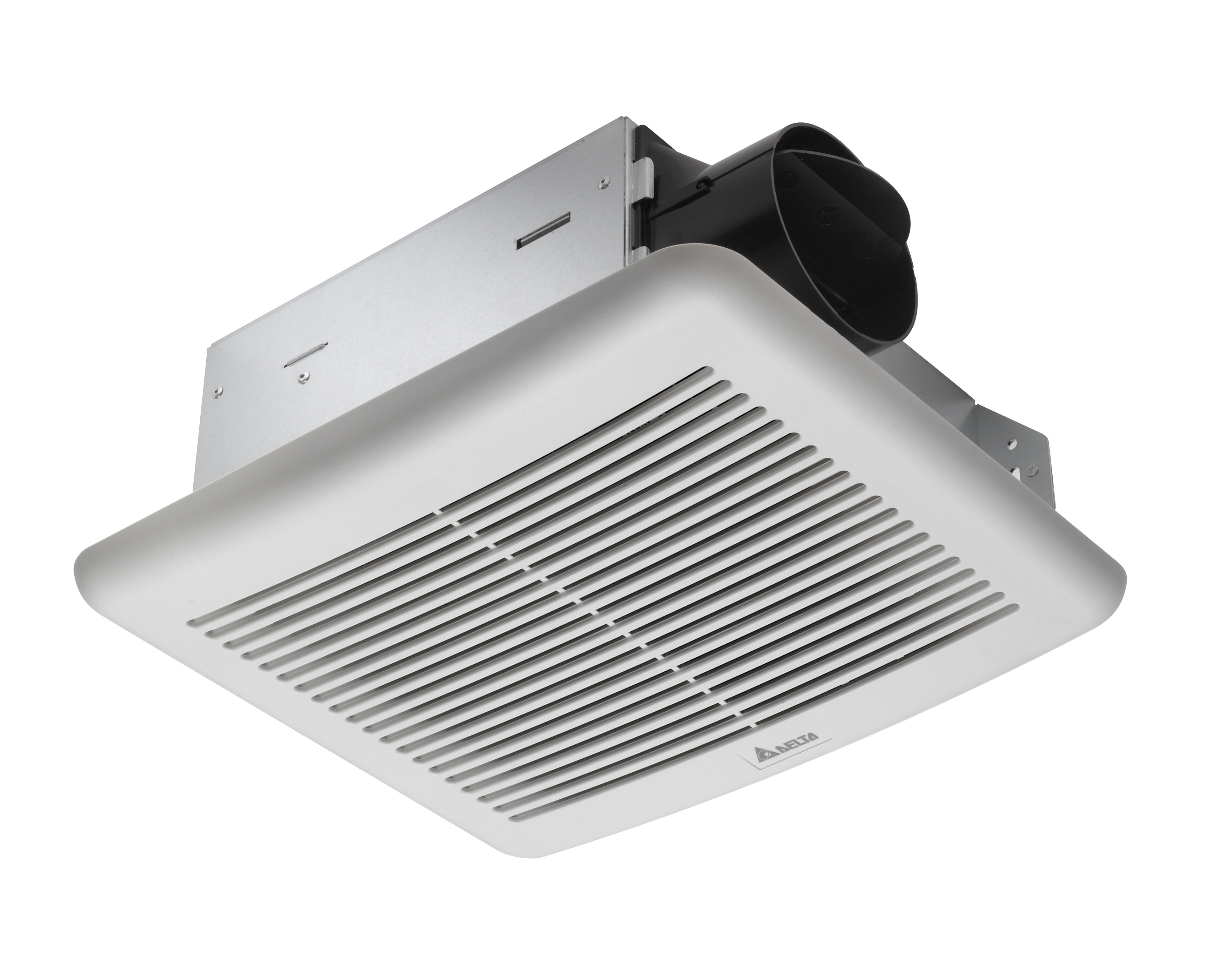 50 CFM Ceiling Exhaust Bath Fan with Light Classic White Design Polymeric New