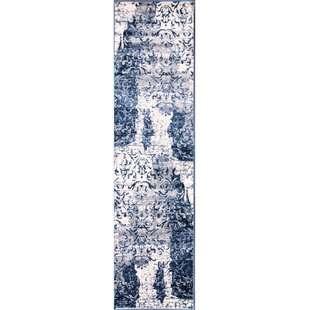 Affordable Pindall Blue/White Area Rug By Astoria Grand