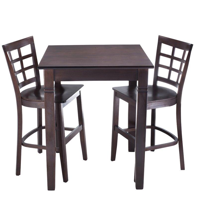 August Grove Harner 3 Piece Pub Table Set