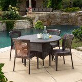 Yuliana 5 Piece Dining Set