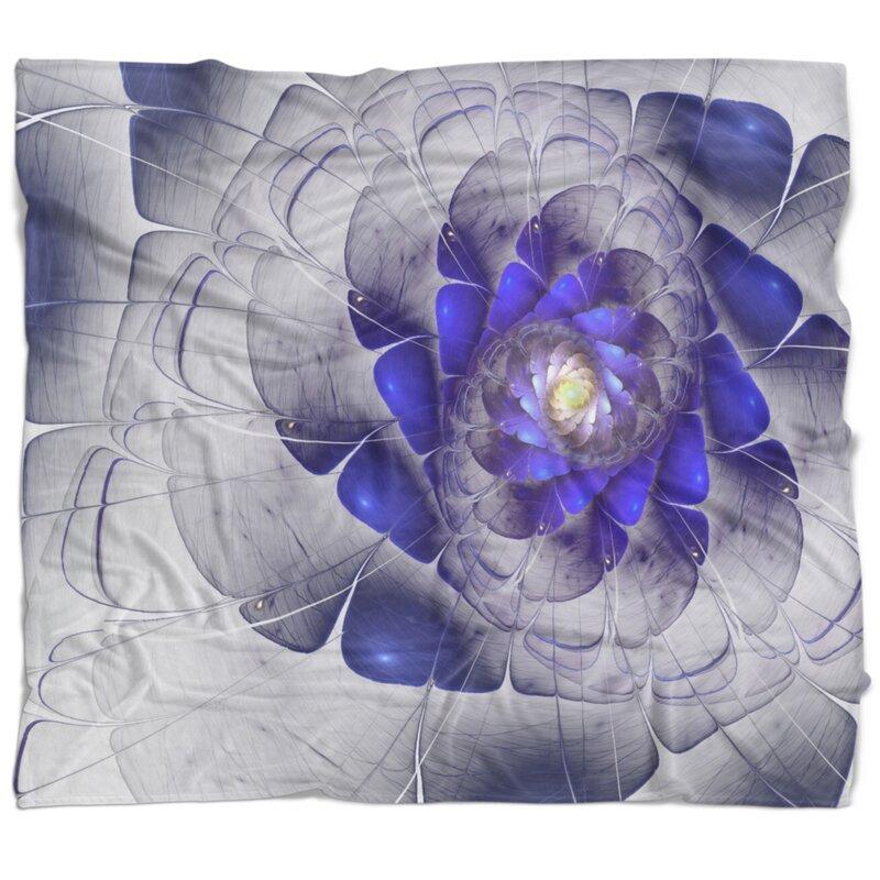 East Urban Home Fractal Digital Art Blanket Wayfair