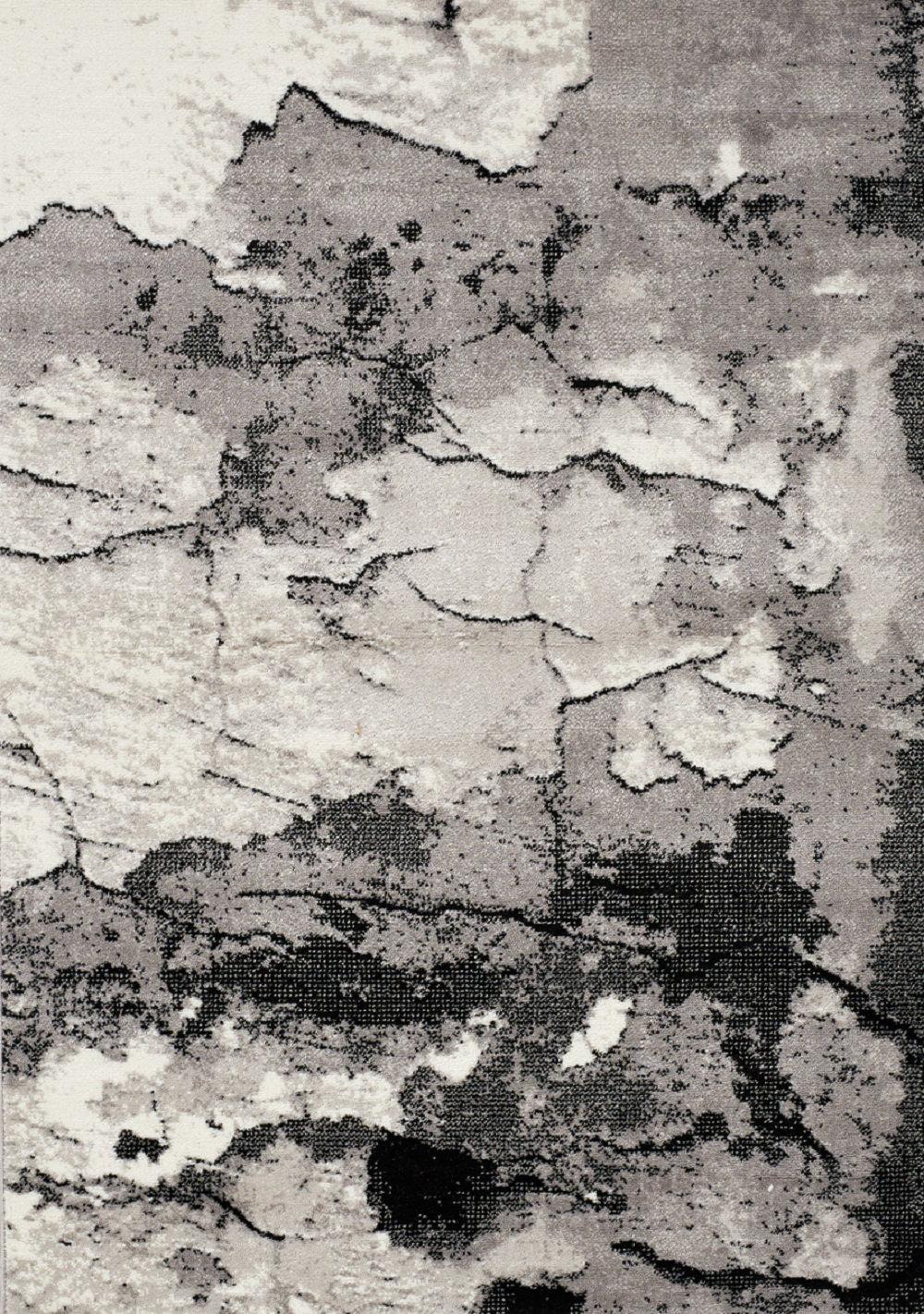 Rock Face Texture Gray Area Rug