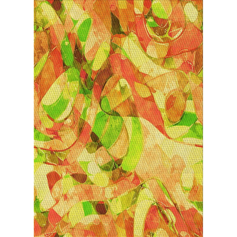 East Urban Home Detwiler Abstract Wool Yellow Area Rug Wayfair