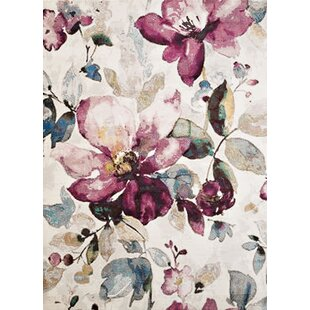 Mcpeters Ivory/Purple Area Rug by Winston Porter
