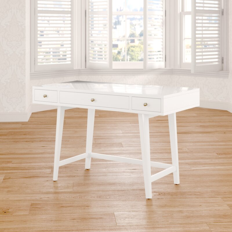Ocampo Solid Wood Writing Desk by August Grove