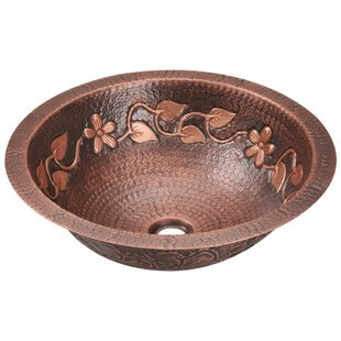 MR Direct Copper Circular Dual Mount Bathroom Sink