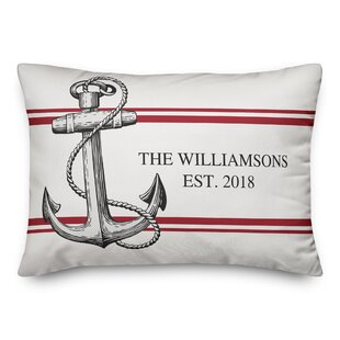 Oakport Coastal Anchor Personalized Outdoor Lumbar Pillow