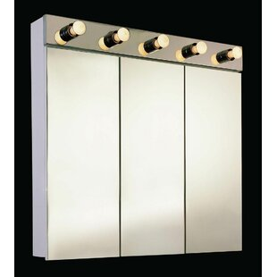 Check Prices Triston 24 X 34 Surface Mount Medicine Cabinet with Lighting ByEbern Designs