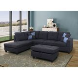 Scottdale 84 Corner Sectional with Ottoman by Winston Porter