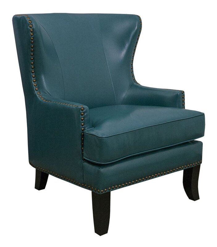 GraftonHome Gina Peacock Bonded Leather Winged Chair Reviews