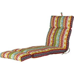 Outdoor Spun Polyester Chaise Lounge Cushion
