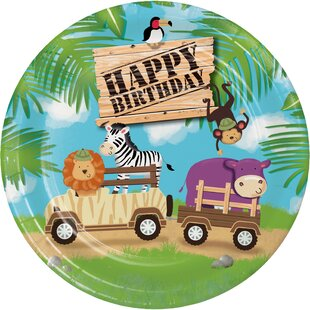Safari Adventure Paper Plate (Set of 24)