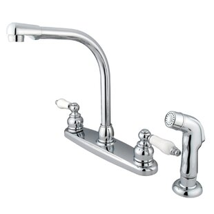 Kingston Brass Victorian Double Handle Kitchen Faucet with Side Spray