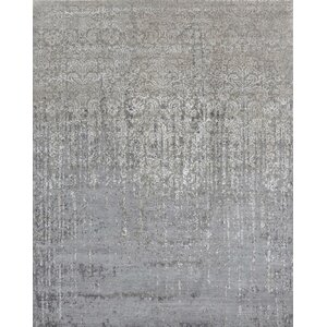Buy Transitional Hand-Knotted Gray Area Rug!