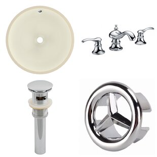 CUPC Ceramic Circular Undermount Bathroom Sink with Faucet and Overflow ByAmerican Imaginations