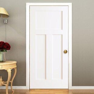 3 Panels Shaker Solid Wood Panelled Slab Interior Door