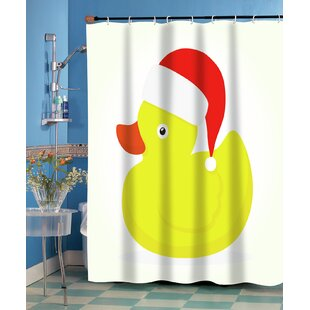 Christmas Ducky Single Shower Curtain