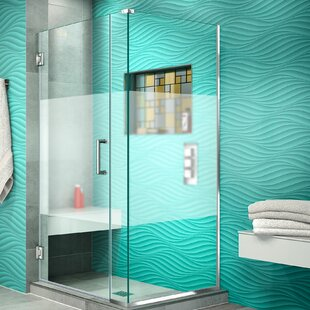 Unidoor Plus 30 x 72 Hinged Frameless Shower Door with Clear Max Technology by DreamLine