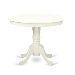 Pedestal White Kitchen Dining Tables Youll Love Wayfair - White pedestal table with leaf
