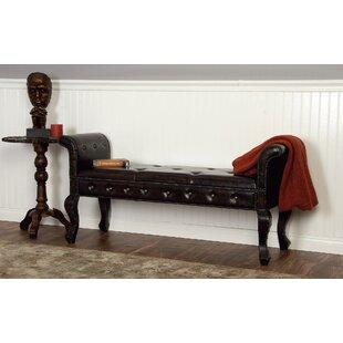 Wiley Faux Leather Bench by Alcott Hill