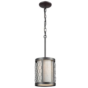 Seman 1-Light Cylinder Pendant by Gracie Oaks