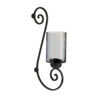 Glass Iron Sconce