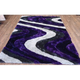 Looking for Clarion Abstract Design Hand-Tufted Purple/White Area Rug By Orren Ellis
