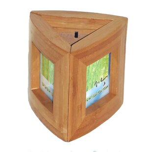 Beachcrest Home Josephine Bamboo Pen Holder with 3 Picture Frames
