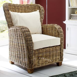Wickerworks Patio Chair with Cushions