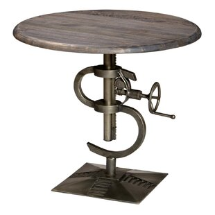 Yavonia Adjustable Height Pub Table by 17 Stories Fresh
