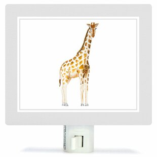 Oopsy Daisy Animal Kingdom - Giraffe by Brett Blumenthal Canvas Night Light