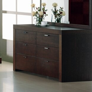 Hokku Designs Metro 6 Drawer Double Dresser