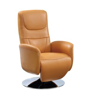 Macon Leather Power 2-Position Recliner By Latitude Run