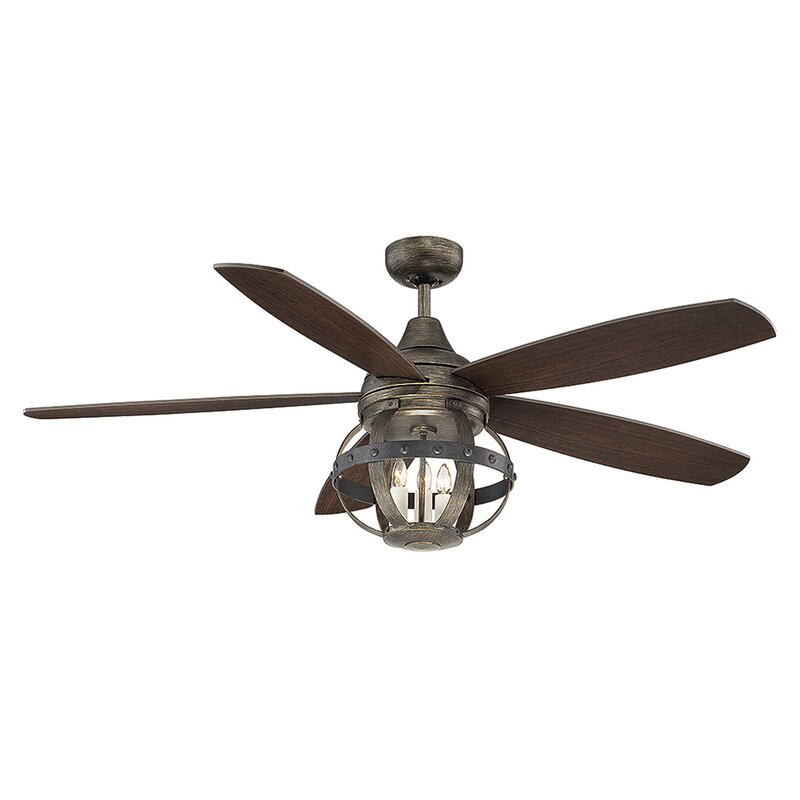 52 Wilburton 5 Blade Ceiling Fan With Remote Light Kit Included