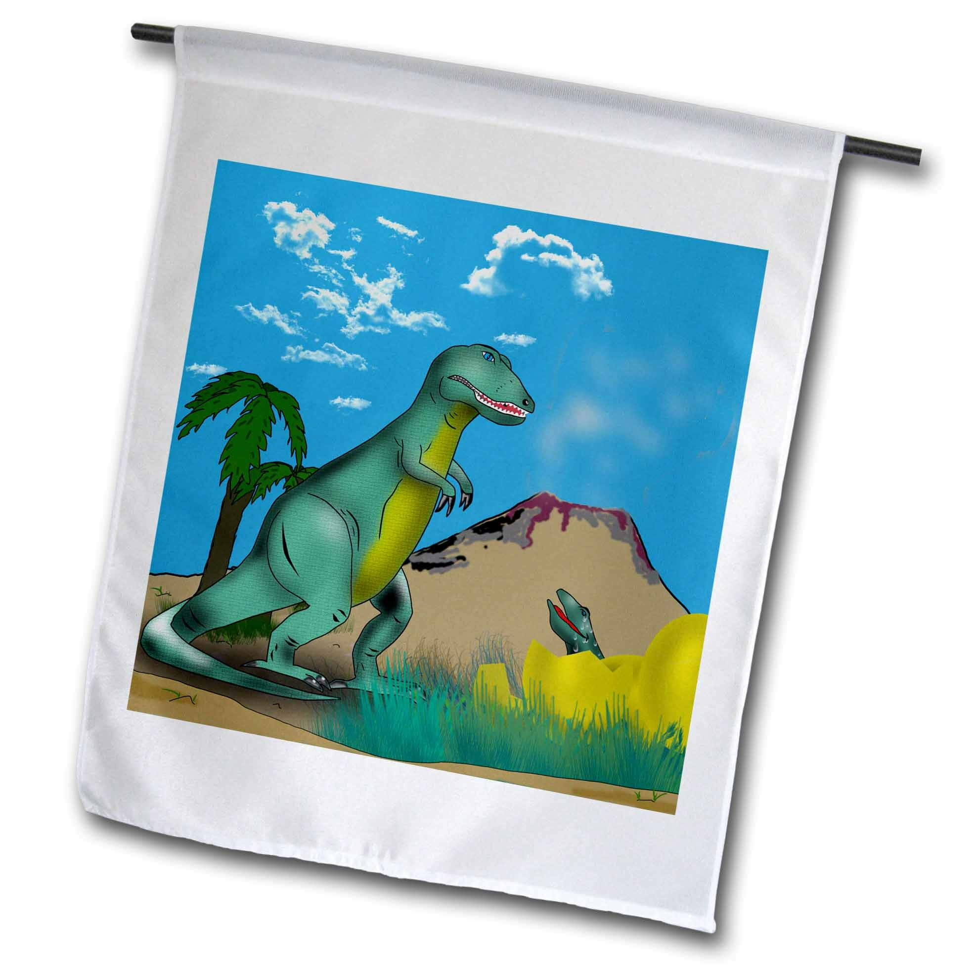 3drose Dinosaurs Polyester 18 X 12 In House Flag Wayfair